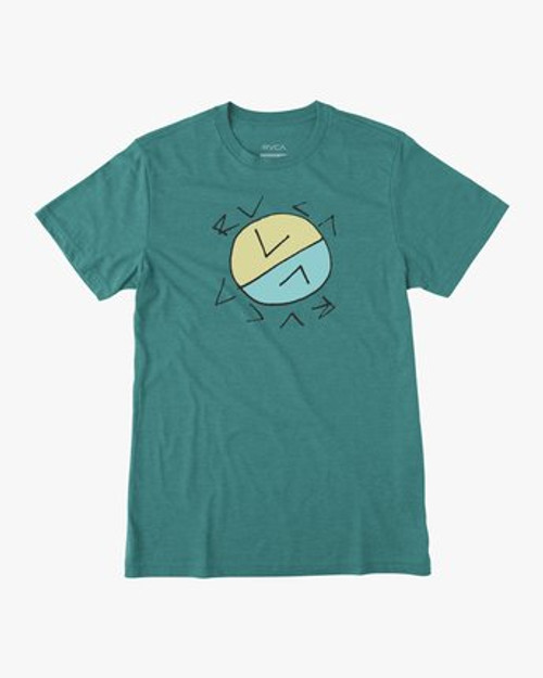RVCA Tee Shirt - Crossed Up - Turquoise