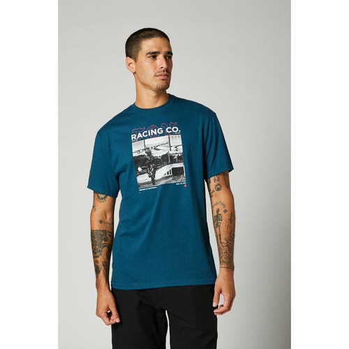 Fox Tee Shirt - Decrypted - Dark Indigo