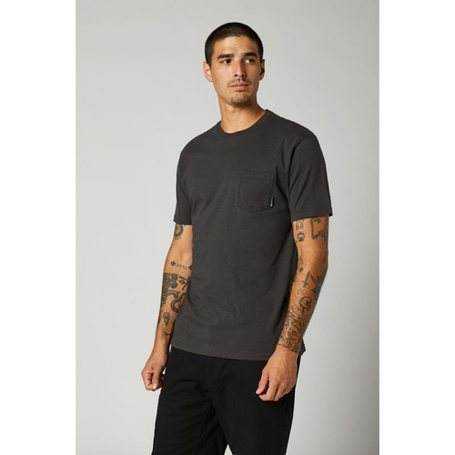 Fox Tee Shirt - Top Coat Premium Pocket - Black Vintage