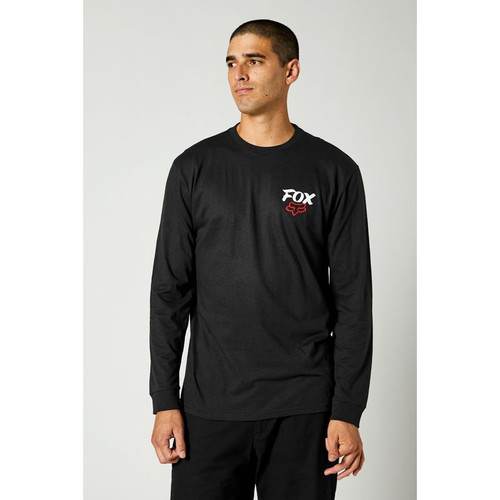 Fox Tee Shirt - Traditional L/S - Black