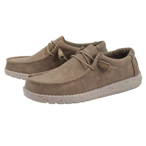 Hey Dude Shoes - Wally Recycled Leather - Nut