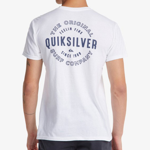 Quiksilver Tee Shirt - Out The Air Mod - White