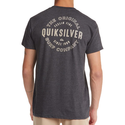 Quiksilver Tee Shirt - Out The Air Mod - Charcoal Heather
