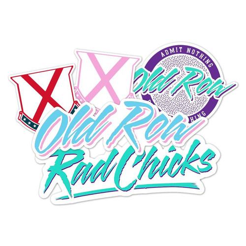 Old Row Decal - Rad Chicks Pack - Multi