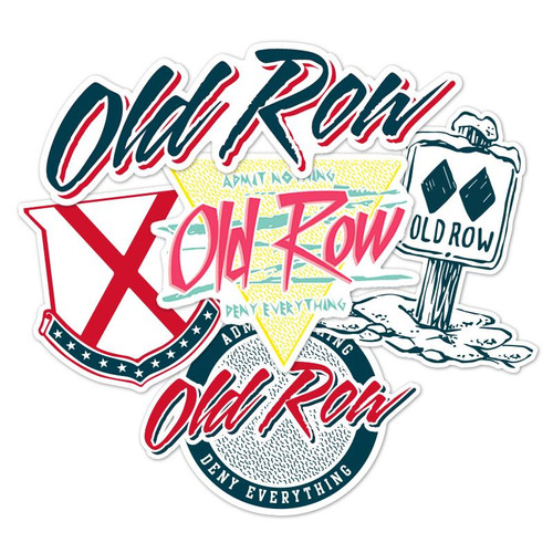 Old Row Decal - Sticker Variety Pack - Multi