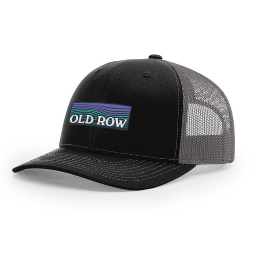 Old Row Hat - Waves Mesh Back - Black/Charcoal