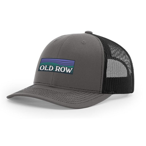 Old Row Hat - Waves Mesh Back - Charcoal/Black