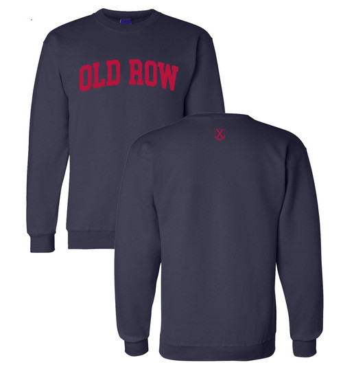 Old Row Hoodie - Classic Crewneck - Navy/Red