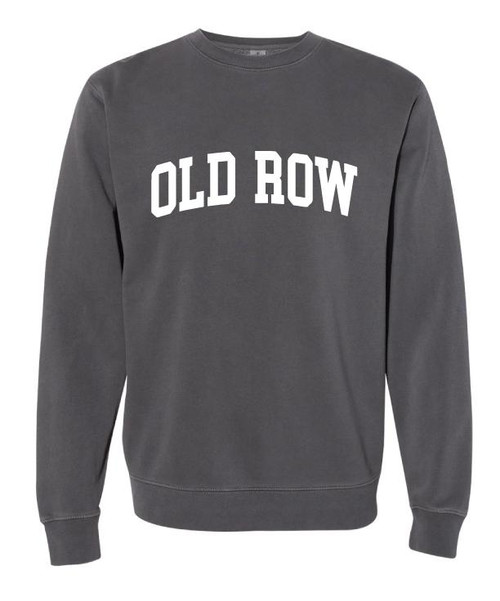 Old Row Hoodie - Pigment Dyed Crewneck - Charcoal