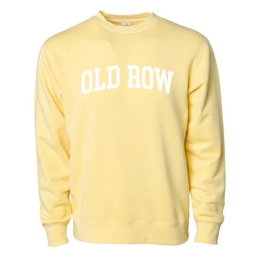 Old Row Hoodie - Pigment Dyed Crewneck - Yellow