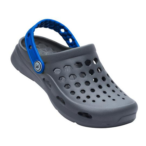 Joybees Youth Shoe - Active Clog - Charcoal/Sport Blue