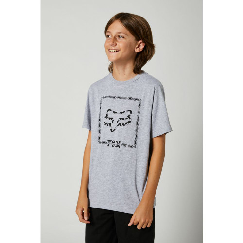 Fox - Youth Tee - Youth Timed Out Tee - Light Heather Grey