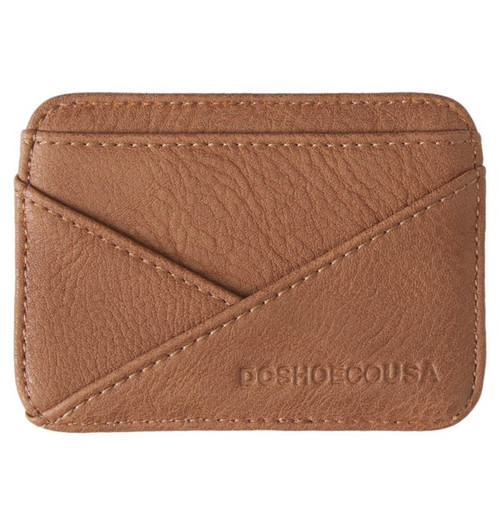 DC - Men's Accessory Wallets - DC Men's Stacked Card Holder - Coffee Bean