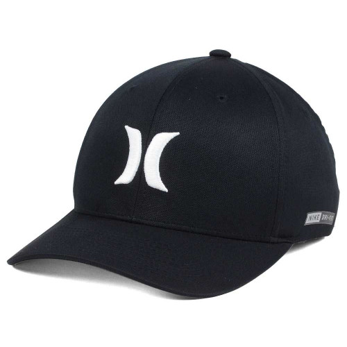 ab1e823a62230 Hurley Hat - Dri-Fit One and Only - Black White - Surf and Dirt