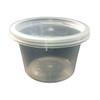 Satco 16oz Round Plastic Pots & Lids 'M12' - SHOPLER