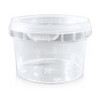360 x Tamper-proof Clear Round Containers & Lids - 8oz (250cc)