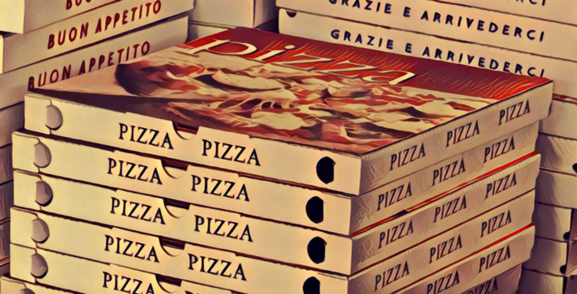 plain card board pizza boxes