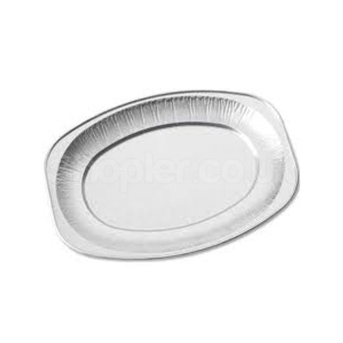 14 Inch Oval Aluminium Platter, Foil Platter - SHOPLER.CO.UK