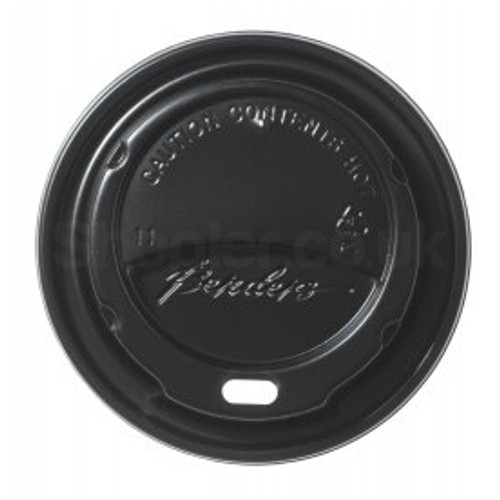 Bender Hot Plastic Lid [12oz & 16oz] Black Domed - SHOPLER.CO.UK