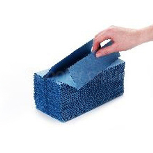 Blue C-fold Hand Towel 1ply [31x23cm] - SHOPLER.CO.UK