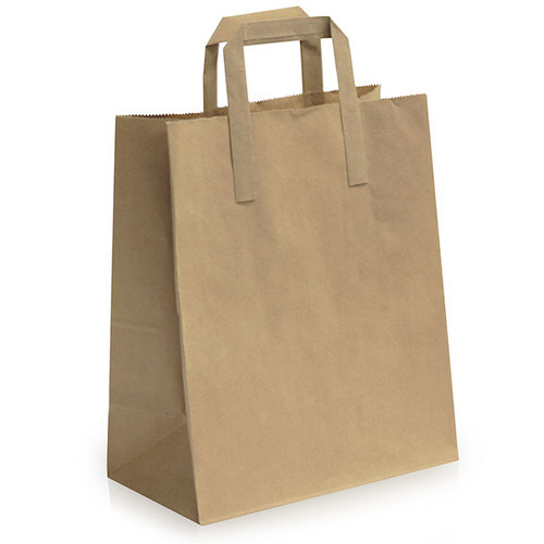 Brown Paper Carrier Bag Medium - SHOPLER.CO.UK
