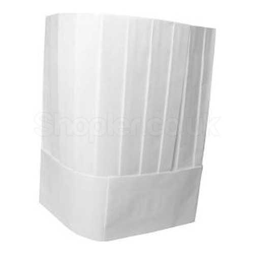Chef Hat [7Inch] Pleated a pack of 50 - SHOPLER.CO.UK