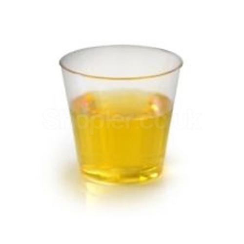 Clear Hard Disposable Shot Glasses - SHOPLER.CO.UK