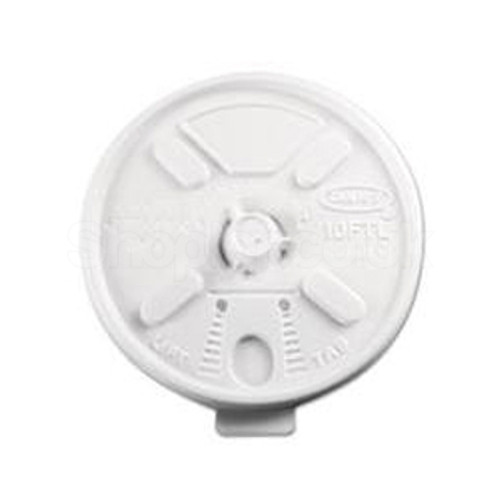 Dart 10FTL Plastic Lid Lift n' Lock White 10oz - SHOPLER.CO.UK