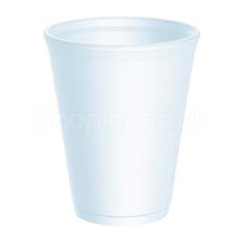 Dart [8LX8] Polystyrene Cup White [8oz] 237ml - SHOPLER.CO.UK