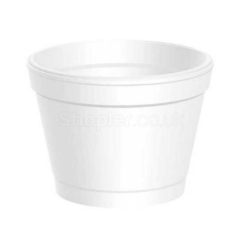Dart [8SJ205] Polystyrene Container White [8oz] - SHOPLER.CO.UK