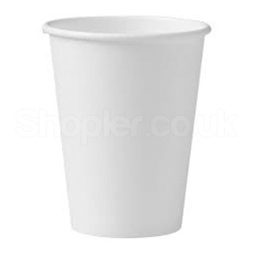 Go Pack Double Wall White Paper Cup Hot 12oz 340 - SHOPLER.CO.UK