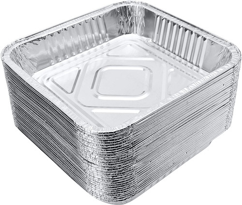 Foil Container [9x9x2Inch] a pack of 200 - SHOPLER.CO.UK