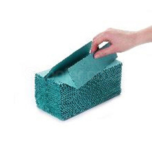 Green C-fold Hand Towel 1ply [31x23cm] - SHOPLER.CO.UK