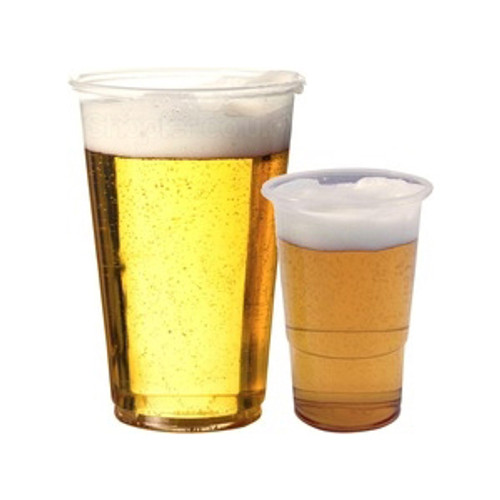 Half Pint Clear Plastic Disposable Party Beer Glasses Cups (a pack of 1250) - SHOPLER.CO.UK