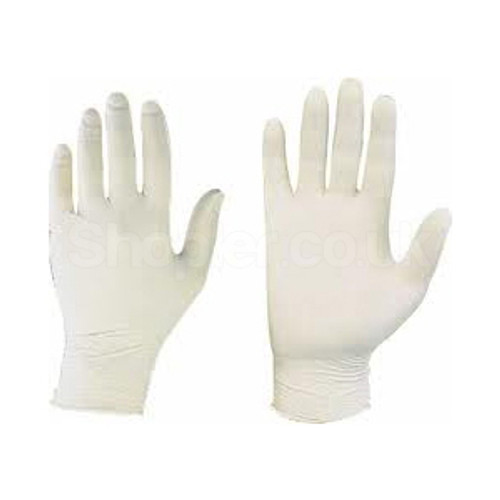 Latex Gloves [Large] Powder Free a pack of 100 - SHOPLER.CO.UK