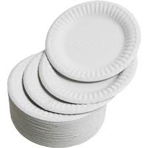 Paper Plate White [7Inch] 18cm a pack of 1000 - SHOPLER.CO.UK