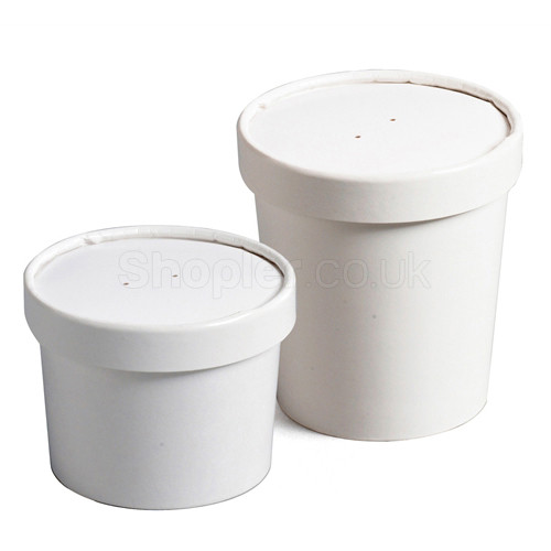 Paper Soup Container & Lid Combo [12oz] 355ml - SHOPLER.CO.UK