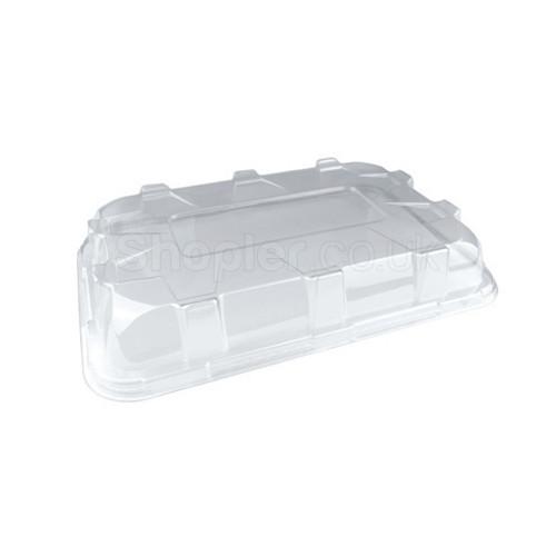 Plastic Platter Large Clear Domed Lid  460mmx300mm - SHOPLER.CO.UK