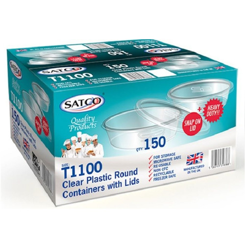 Satco Round Microwave Containers & Lids T1100 - shopler.co.uk