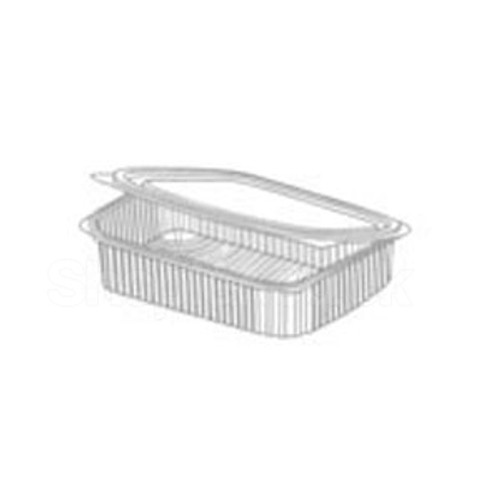 Somoplast [960] Clear Hinged Rect. Container 600cc - SHOPLER.CO.UK