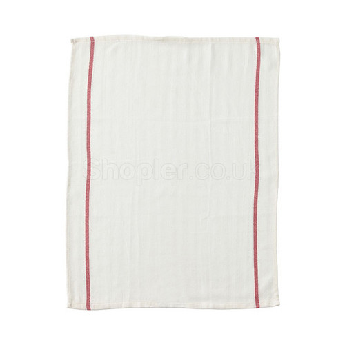 White Dishcloth 30x40cm a pack of 10 - SHOPLER.CO.UK