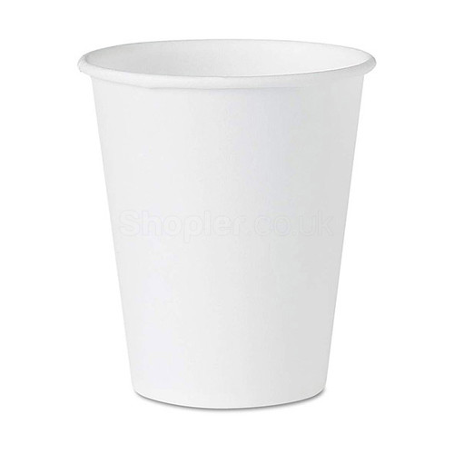 Dispo White Paper Cup Hot 8oz 227ml a pack of - SHOPLER.CO.UK