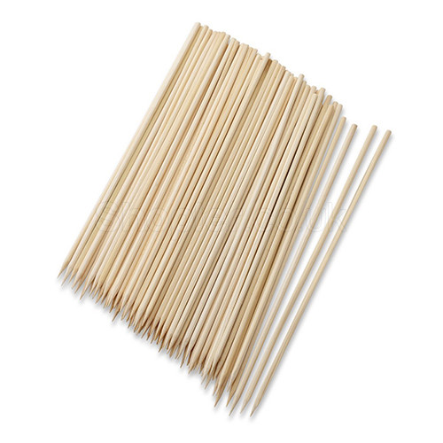 Wooden Bamboo Skewers [200mm] a pack of 200 - SHOPLER.CO.UK