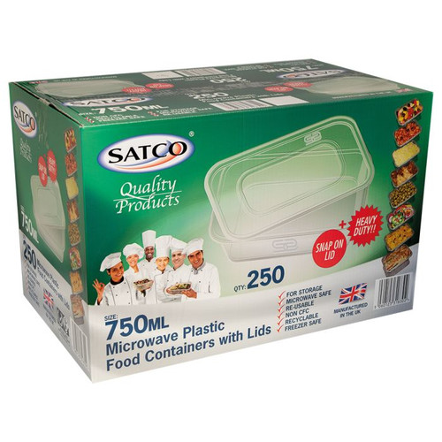 Satco Microwave Container & Lid [750ml] - SHOPLER.CO.UK