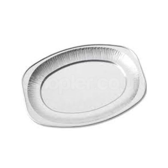 14 Inch Oval Aluminium Platter, Foil Platter - SHOPLER