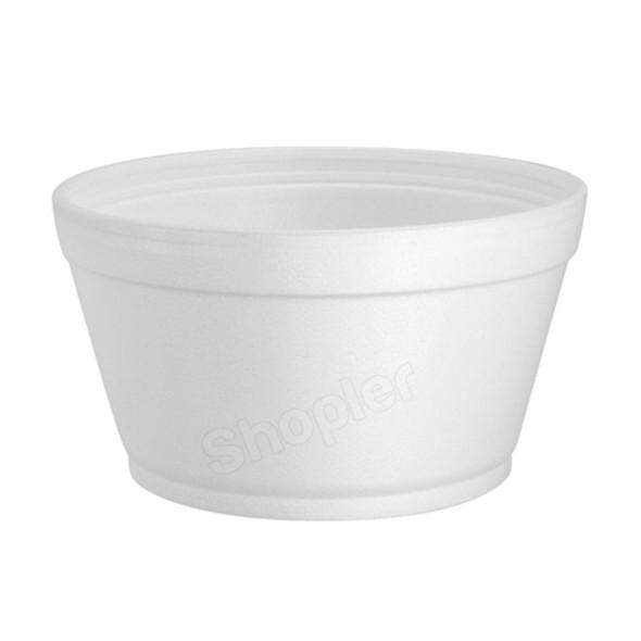 Dart 16MJ32 Polystyrene Container White 16oz - SHOPLER