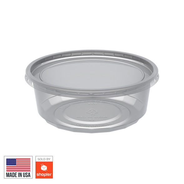 Anchor 8 oz Container and Lids - SHOPLER