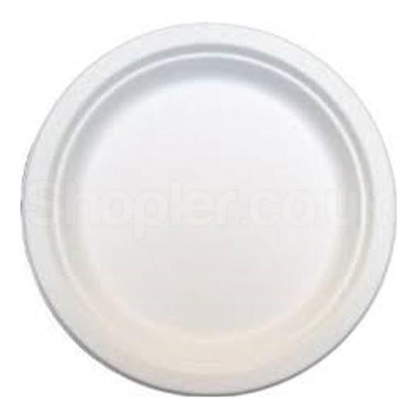 Bagasse Disposable Dinner Plate 7 Inch - SHOPLER.CO.UK