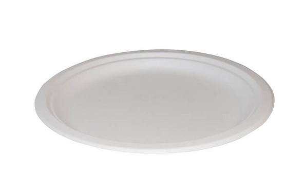 Bagasse Disposable Dinner Plate 7 Inch - SHOPLER