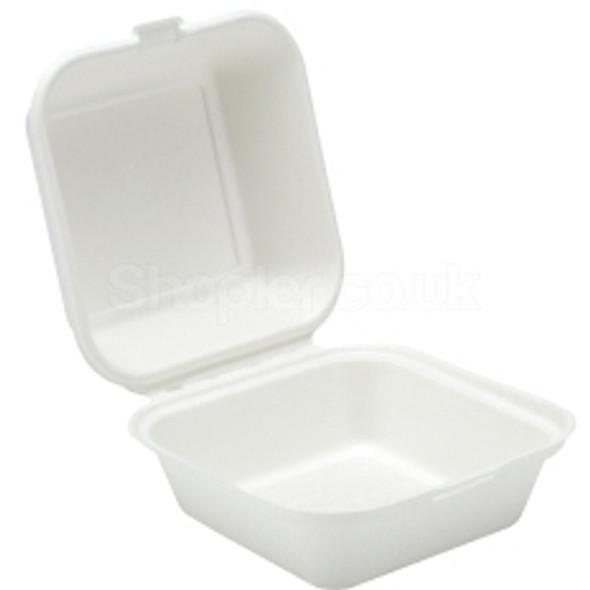 Bagasse, biodegradable 6'' Burger Box - SHOPLER.CO.UK